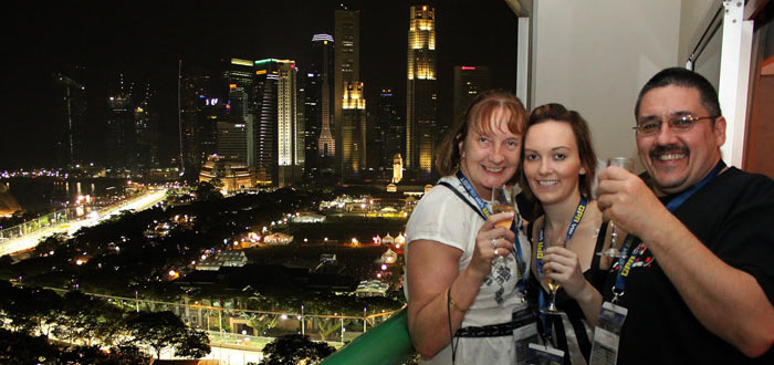 gpa guests at the singapore grand prix