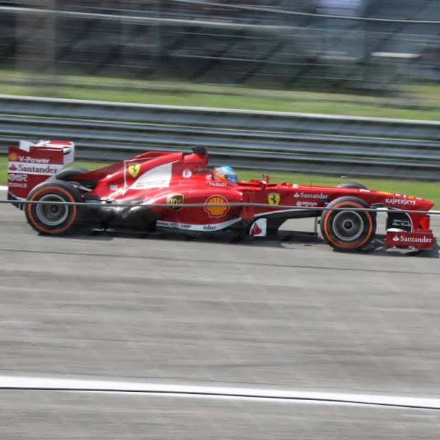 Ferrari formula one car in action