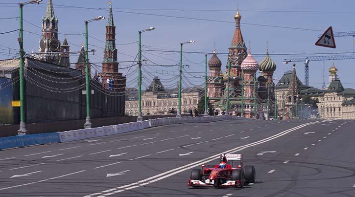 formula one car driving in Sochi